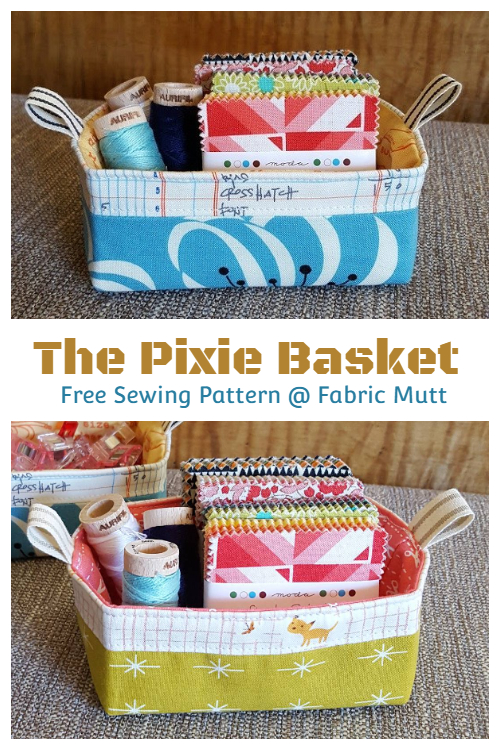DIY Fabric Pixie Basket Free Sewing Patterns