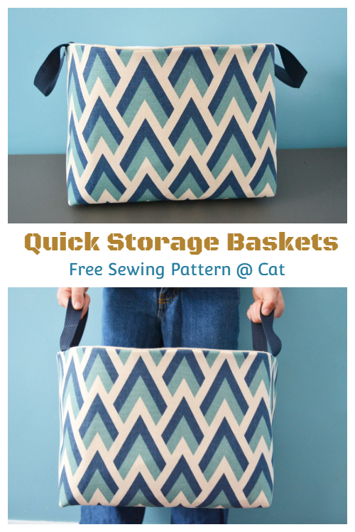 DIY Quick Fabric Basket Free Sewing Patterns