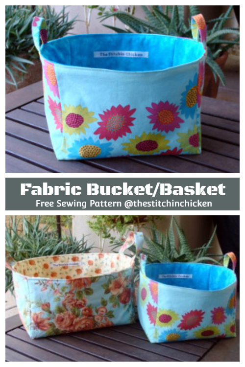 DIY Fabric Basket Free Sewing Patterns