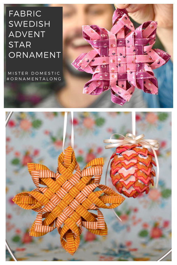 Fabric Swedish Advent Star Ornament DIY Tutorials+ Video