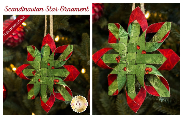 DIY Christmas Scandinavian Star Ornament DIY Tutorials+ Video