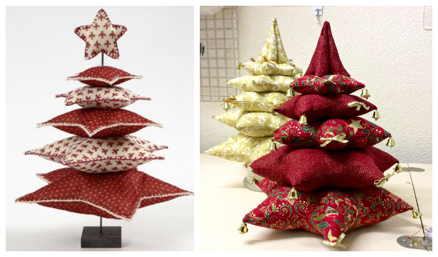 DIY 3D Stacked Star Christmas Tree Free Sewing Patterns