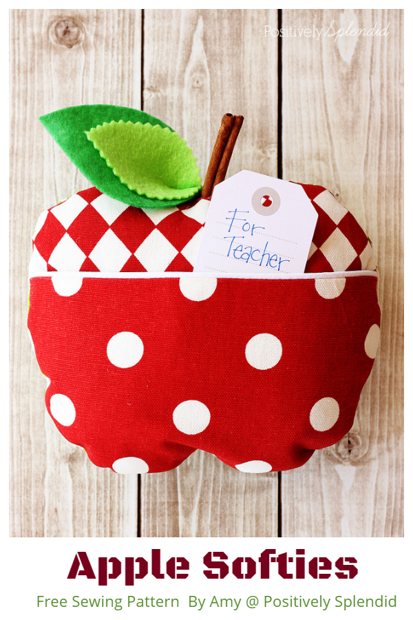 DIY Fabric Apple Softies Free Sewing Patterns