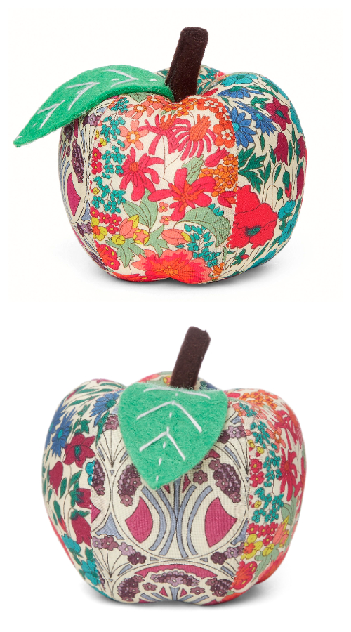 DIY Fabric Apple Pin Cushion Free Sewing Patterns