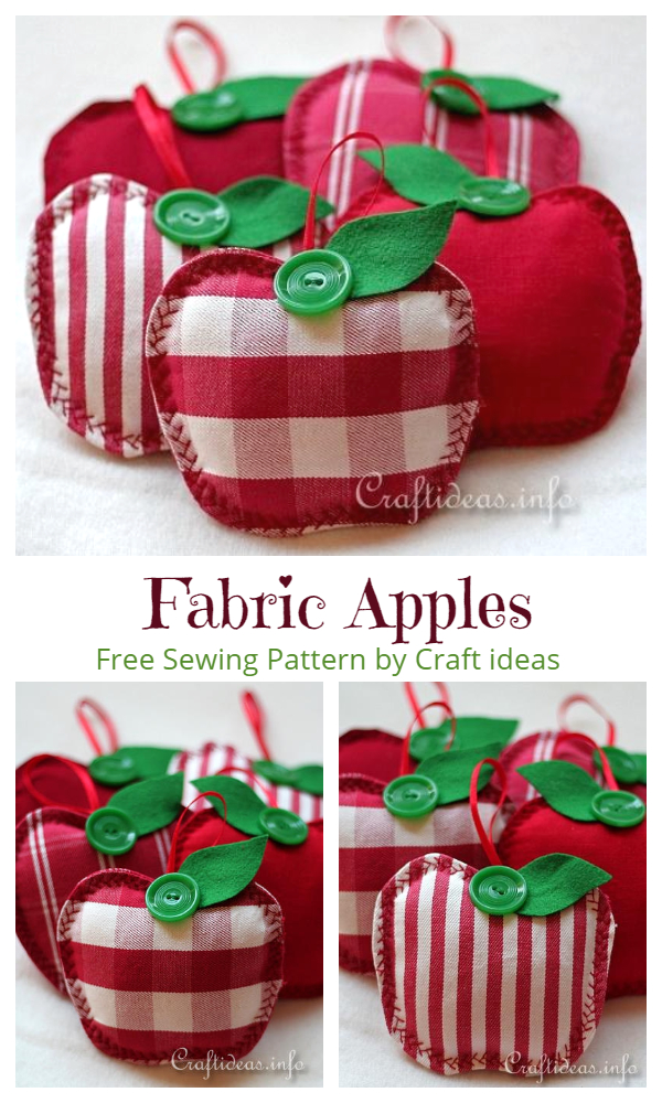 DIY Fabric Apple Free Sewing Patterns