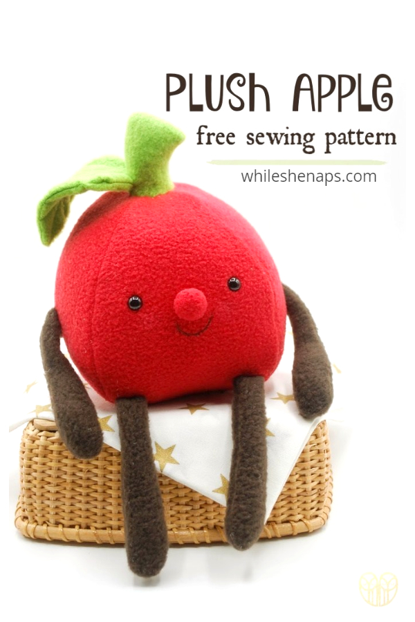 DIY Fabric Plush Apple Free Sewing Patterns