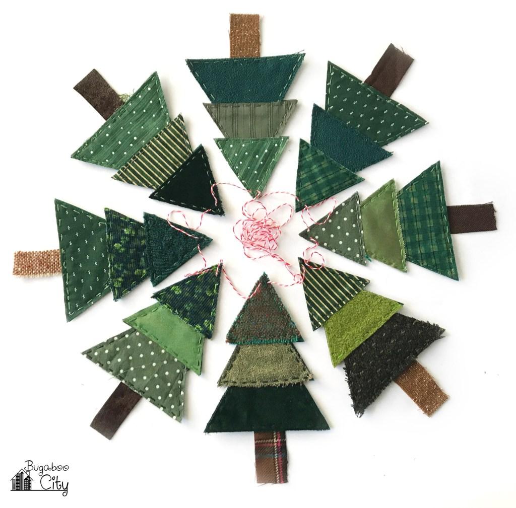 DIY Fabric Christmas Tree Banner Free Sewing Pattern f1