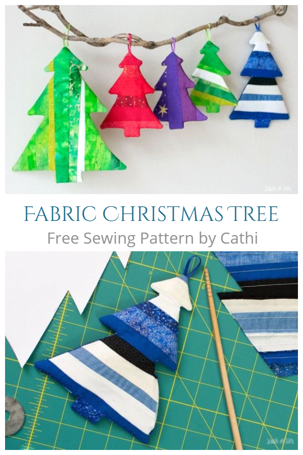 DIY Fabric Patchwork Christmas Tree Free Sewing Pattern & Tutorial