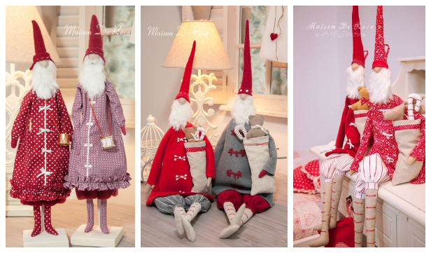 DIY Old Good Fabric Santa Doll Toy Free Sewing Patterns