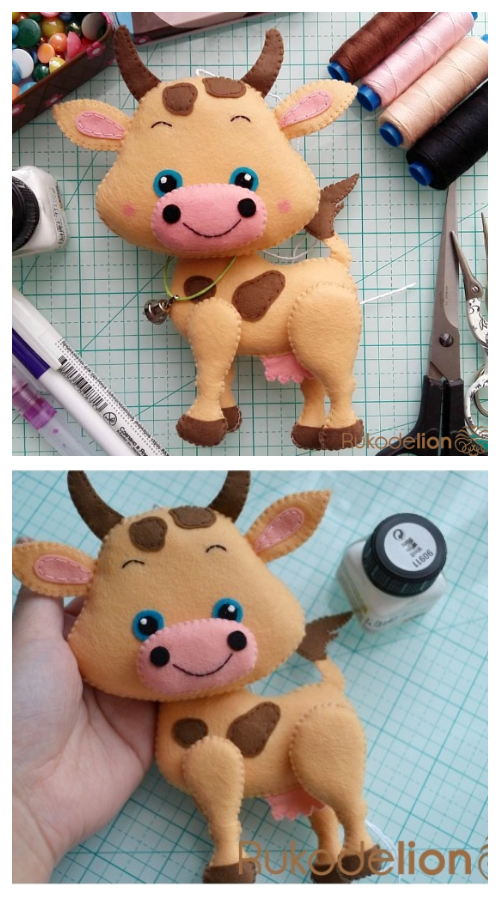DIY Felt Cow Free Sewing PatternDIY Felt Cow Free Sewing Pattern