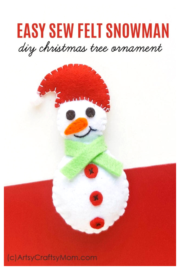 DIY Easy Felt Snowman Free Sewing Patterns