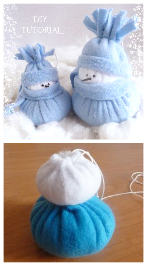DIY No Sew Felt Snowman Free Sewing Patterns