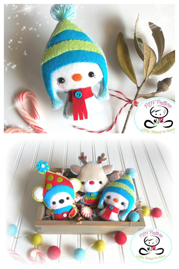 DIY Snowy the Felt Snowman Sewing Patterns