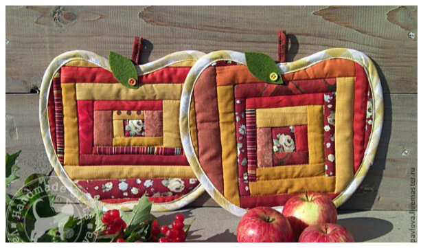 DIY Quilt Apple Potholder Free Sewing Pattern and Tutorial