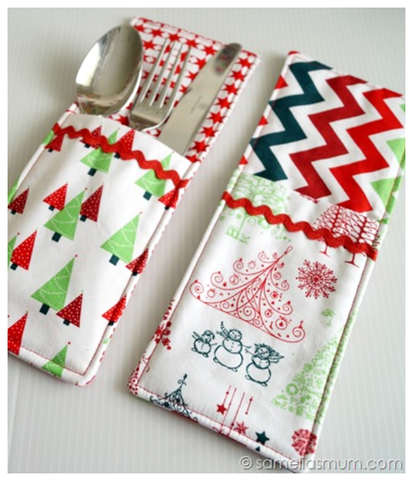 DIY Fabric Cutlery Holder Free Sewing Patterns + Video