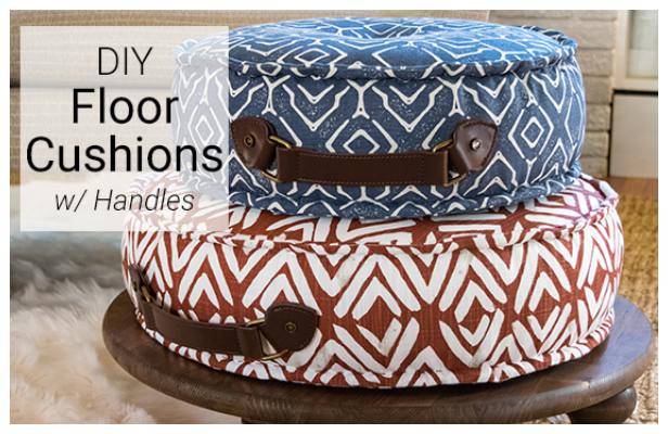 DIY Fabric Floor Cushions Free Sewing Pattern