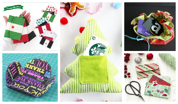 DIY Fabric Gift Card Holder Free Sewing Patterns