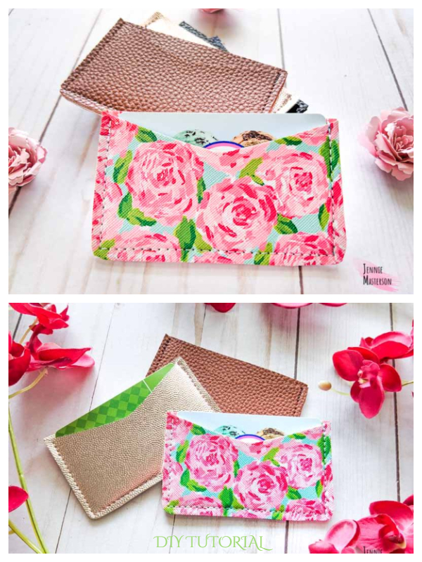 DIY Easy Card Wallet Free Sewing Patterns