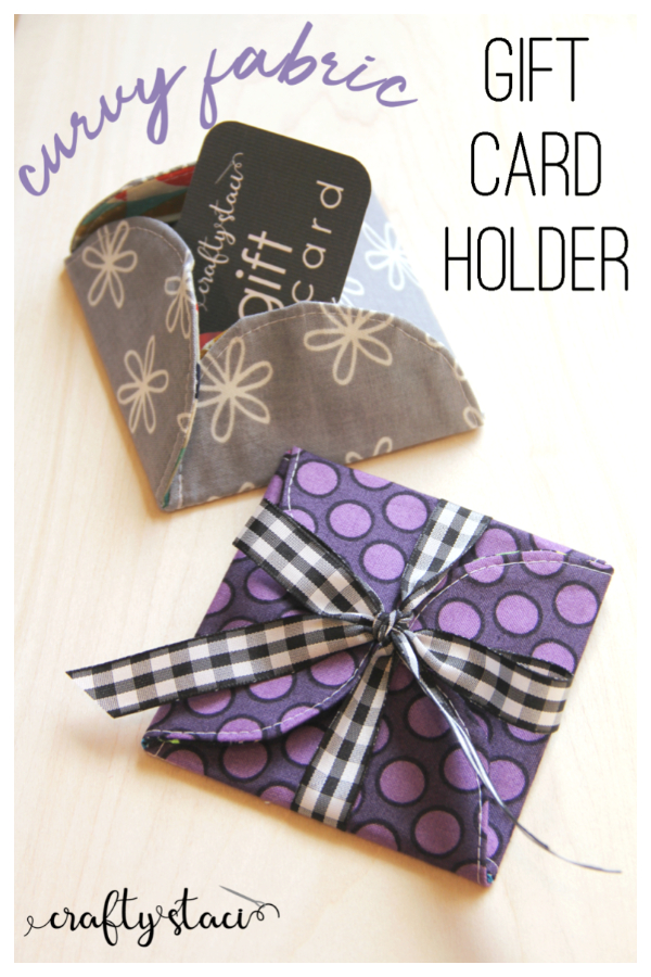 DIY Fabric Curvy Gift Card Holder Free Sewing Patterns