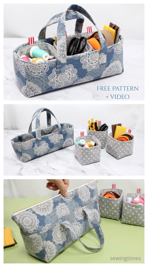 DIY Fabric Pouch Handbag Free Sewing Pattern + Video