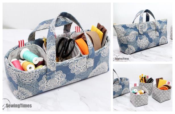 DIY Fabric Pouch Handbag Free Sewing Pattern + Videog Pattern ft