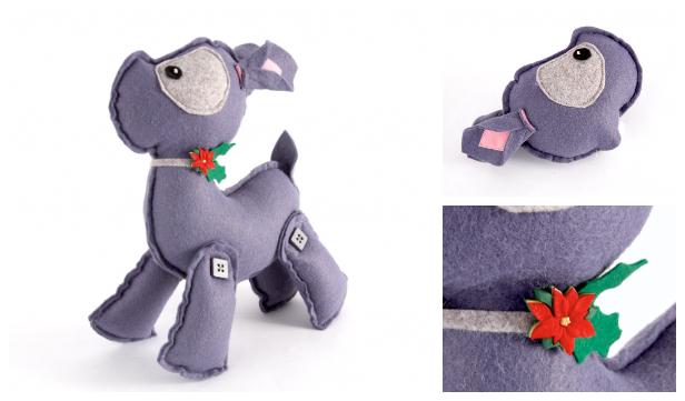 DIY Felt Deer Toy Free Sewing Pattern