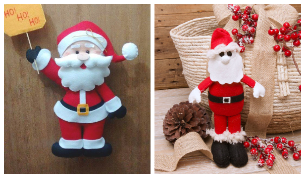 DIY Felt Santa Doll Free Sewing Patterns