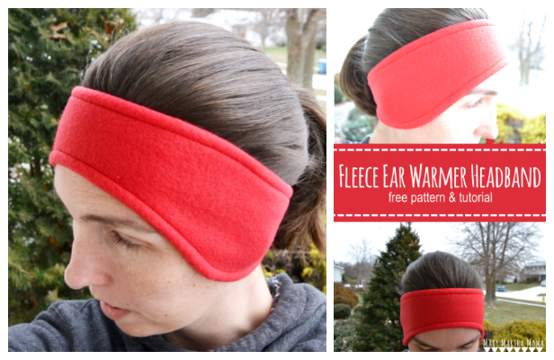 DIY Fleece Headband Ear Warmer Free Sewing Pattern