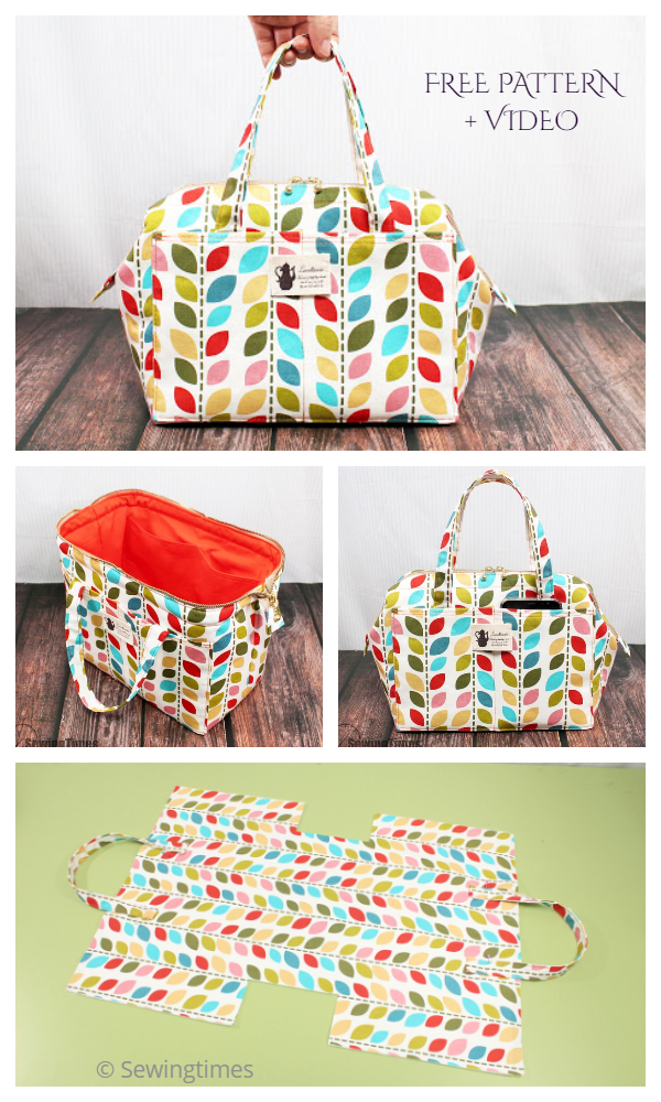 DIY Wire Frame Fabric Tote Bag Free Sewing Pattern + Video