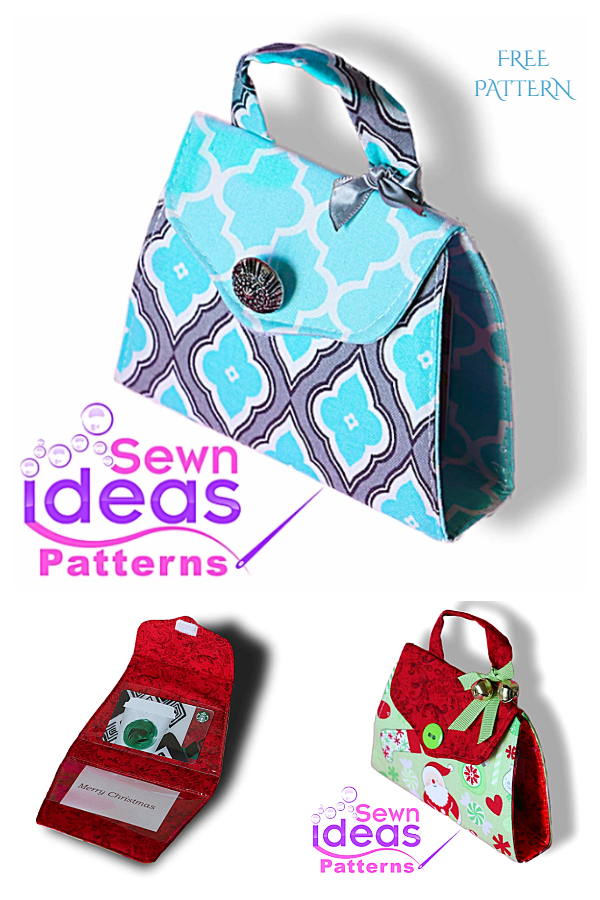 DIY Fabric Gift Card Purse Free Sewing Patterns