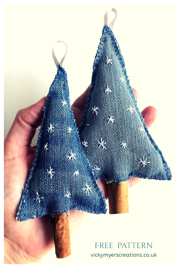 Upcycled Denim Jean Christmas Tree DIY Tutorials