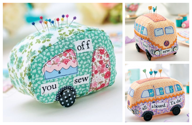 DIY Vintage Fabric Caravan Pincushion Free Sewing Patterns