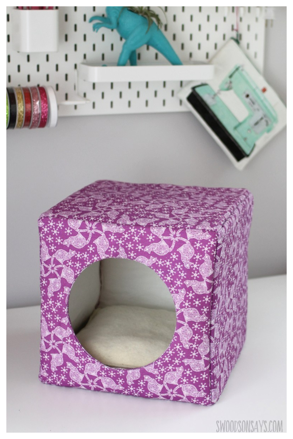 DIY Fabric Cat House Free Sewing Patterns
