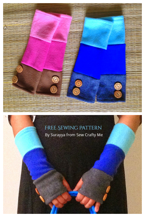 DIY Fabric Fingerless Gloves Free Sewing Patterns