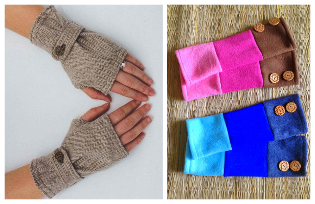 DIY Fabric Fingerless Gloves Sewing Patterns