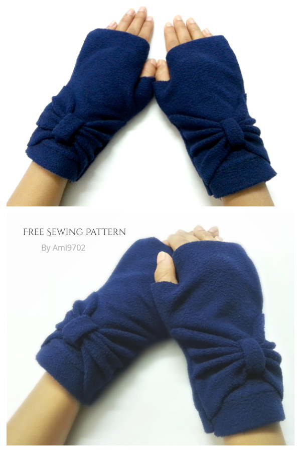 DIY Fleece Hand Warmer Free Sewing Patterns