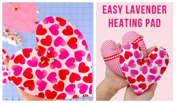 DIY Fabric Heart Heating Pad Free Sewing Pattern
