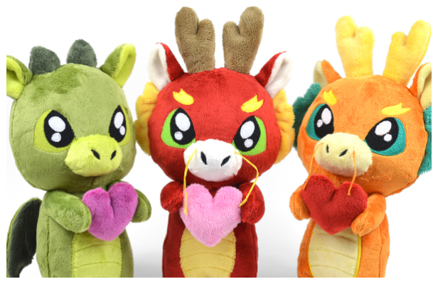 DIY Fabric Love Dragon Plush Free Sewing Pattern