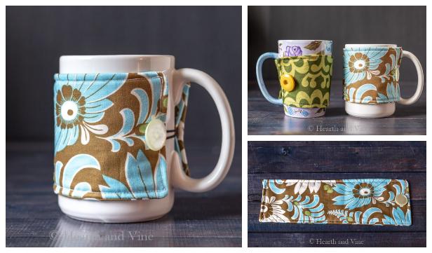 DIY Fabric Mug Cozy Free Sewing Pattern