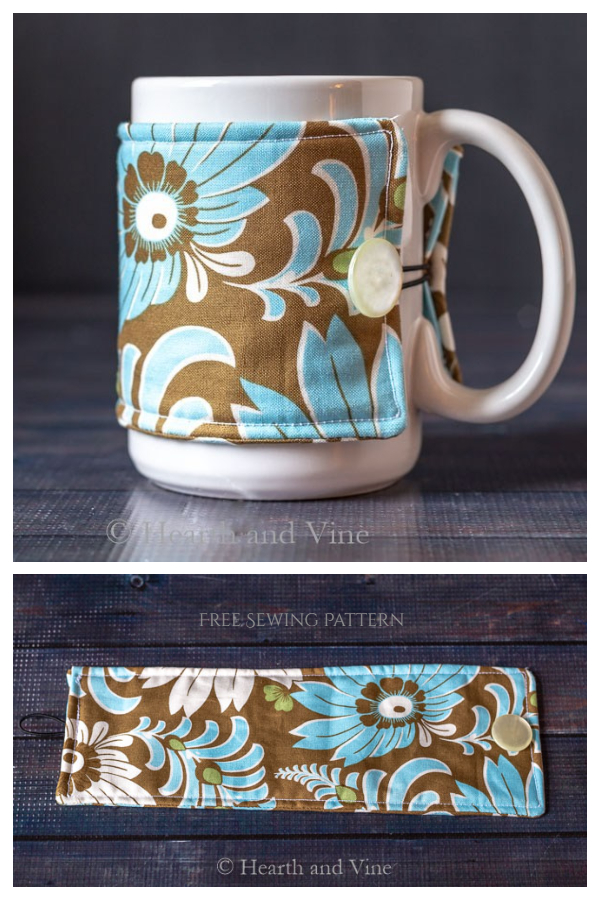 DIY Fabric Mug Cozy Free Sewing Pattern