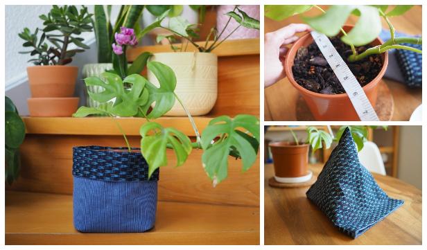 DIY Fabric Plant Bucket Free Sewing Pattern