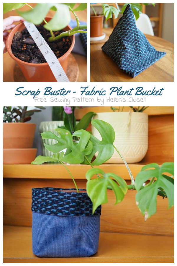DIY Fabric Plant Bucket Free Sewing Pattern