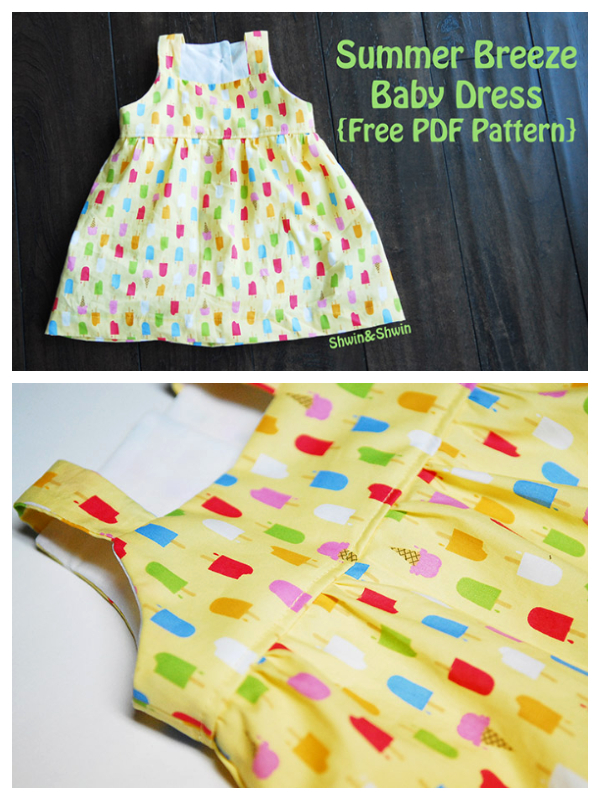 DIY Fabric Summer Breeze Baby Dress Free Sewing Pattern