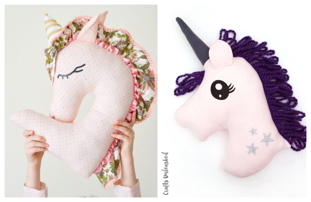 DIY Fabric Unicorn Pillow Free Sewing Patterns