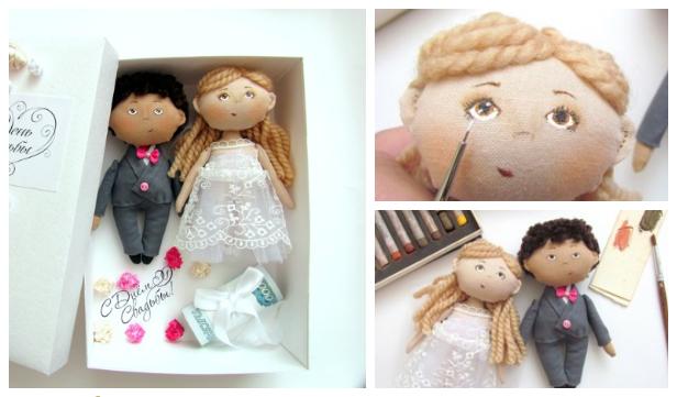 DIY Fabric Wedding Doll Free Sewing Pattern & Tutorial