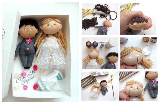 DIY Fabric Wedding Doll Free Sewing Pattern & Tutorial