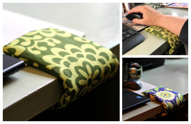 DIY Fabric Wrist Comfort Cuff Free Sewing Pattern