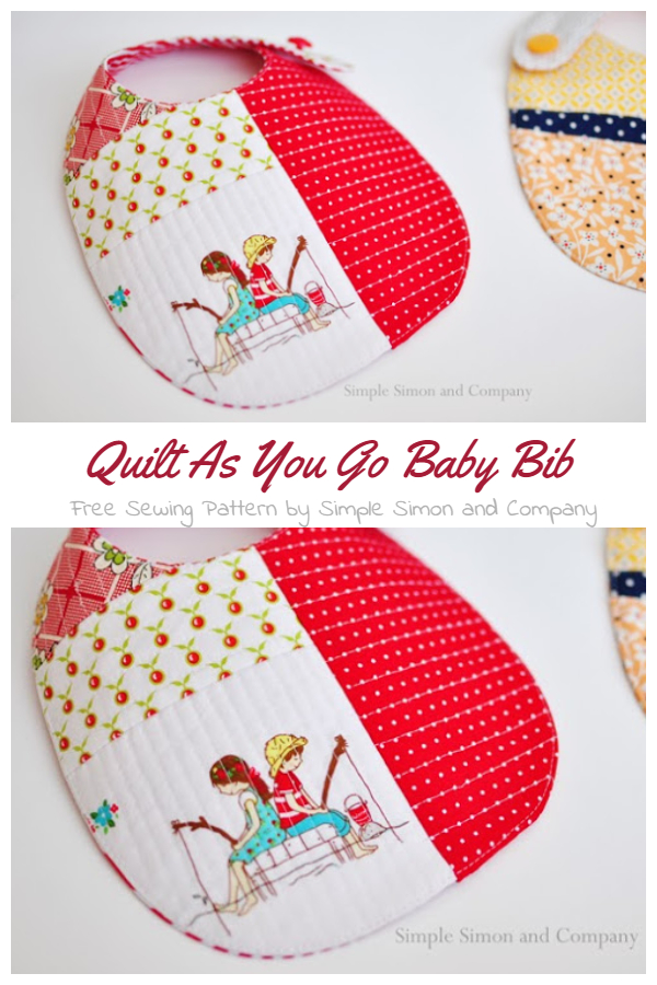 DIY Quilt As You Go Baby Bib Free Sewing Patterns