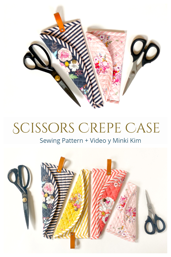 DIY Fabric Scissors Crepe Case Sewing Pattern + Video