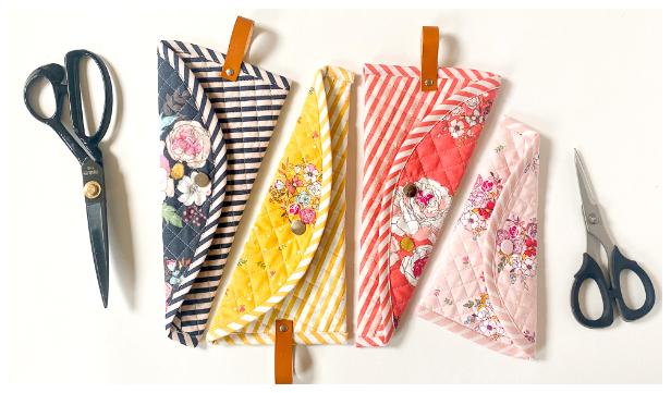 DIY Fabric Scissors Crepe Case Sewing Pattern + Video
